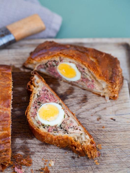 Pâté de pâques berrichon viande et œuf