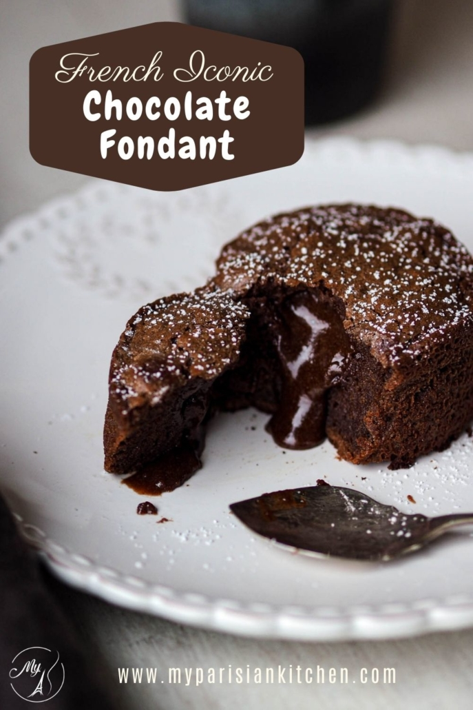 French iconic molten chocolate fondant