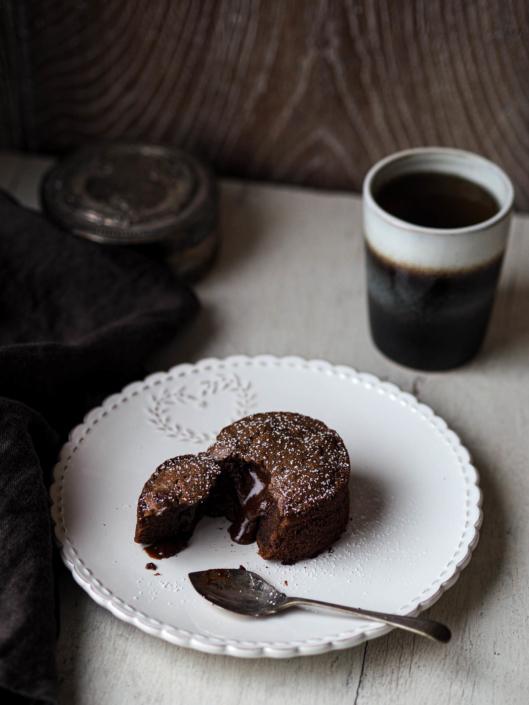 pause café et fondant au chocolat