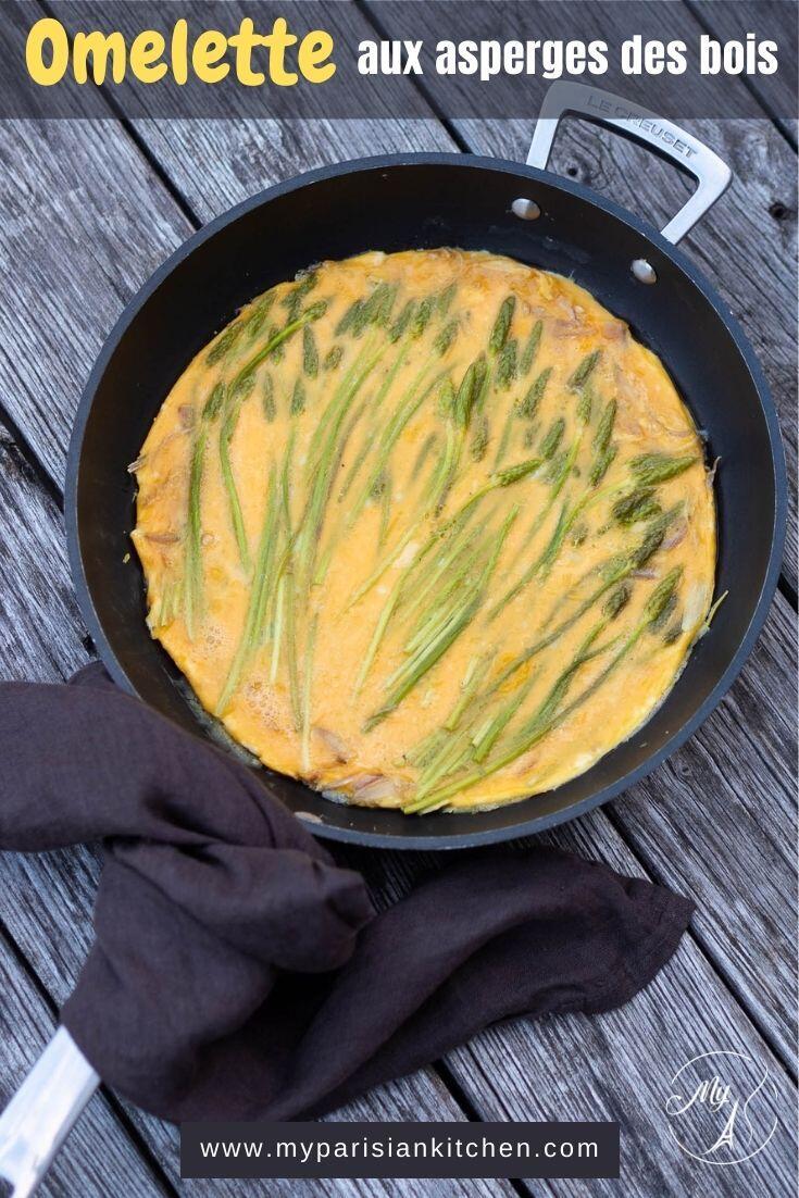 omelette aux asperges des bois, recette saisonnière de printemps