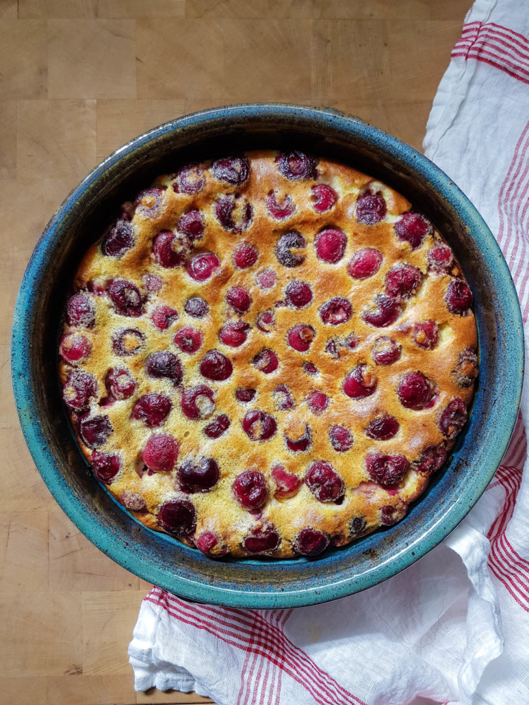 French iconic dessert easy cherry clafoutis