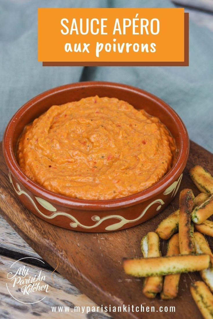 dip provençal, sauce aux poivrons pour l'apéritif