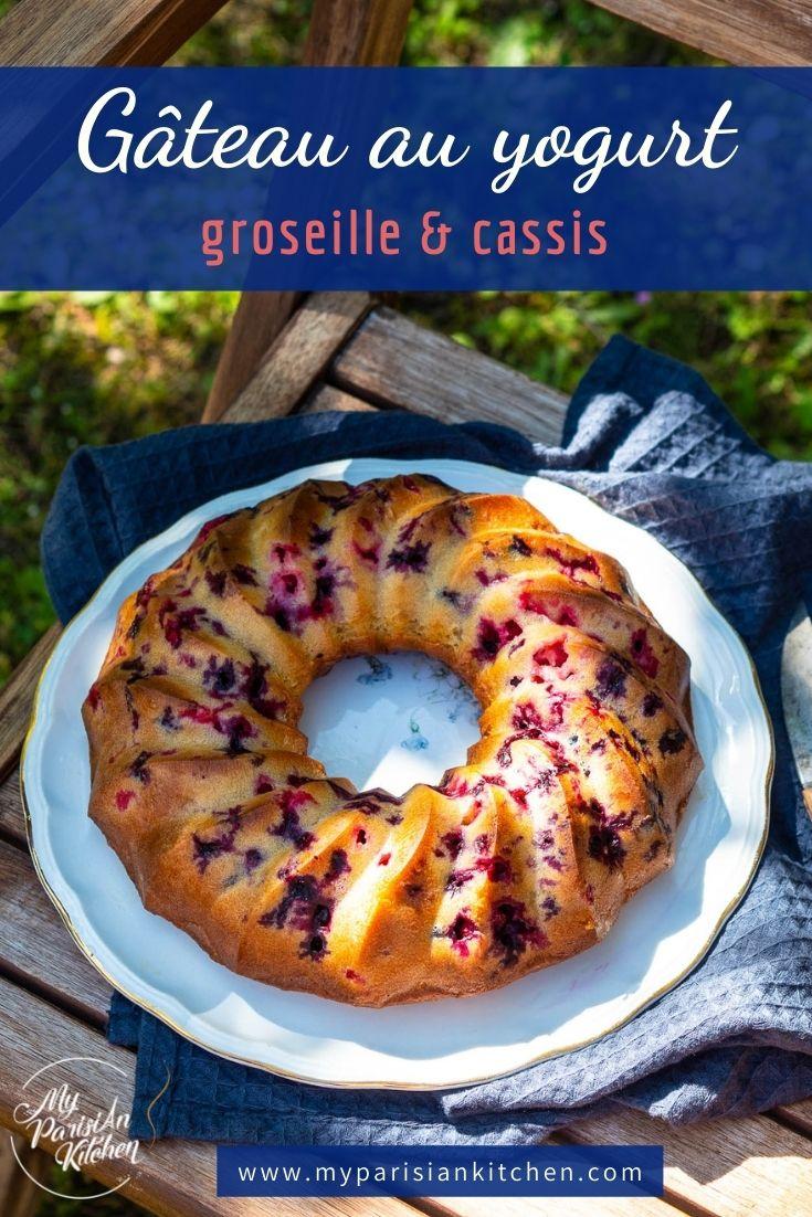 gâteau au yaourt cassis et groseille pour le goûter