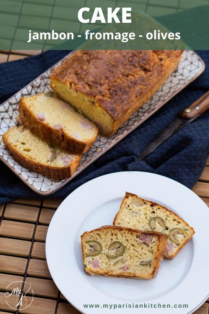 cake salé au jambon, fromage et olives