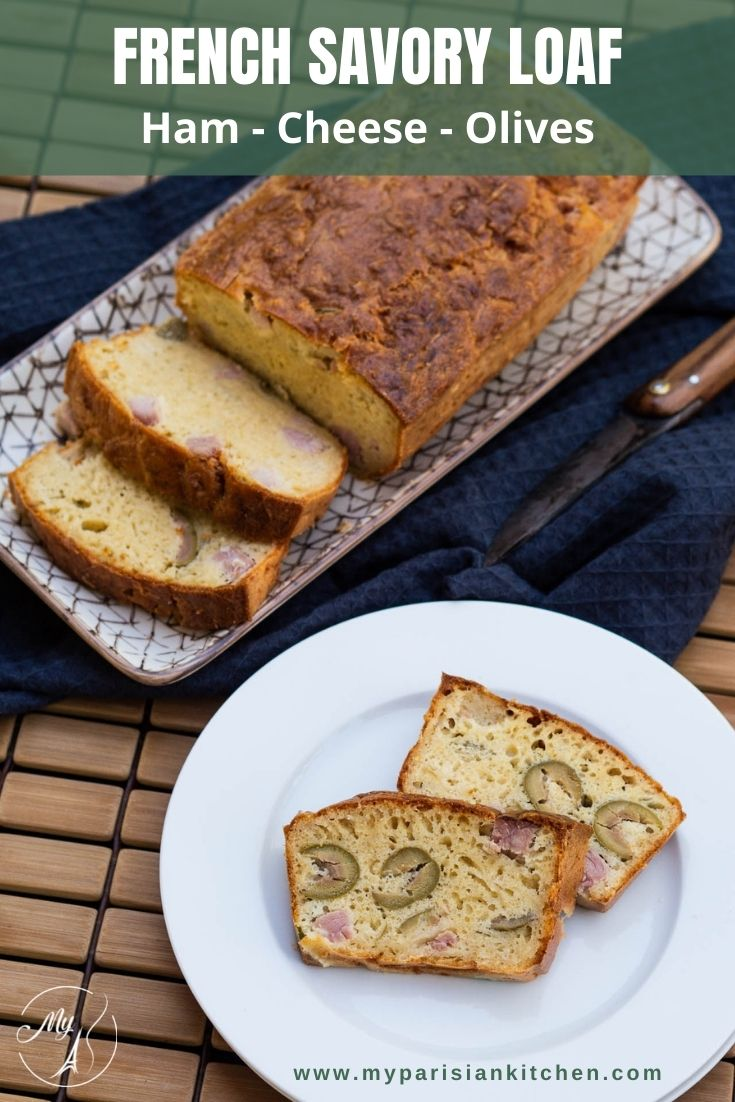 ham, cheese and olive loaf French savory loaf cake salé