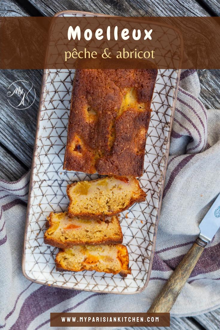 gâteau moelleux abricot et pêche